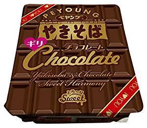 New chocolate taste yakisoba instant noodle
