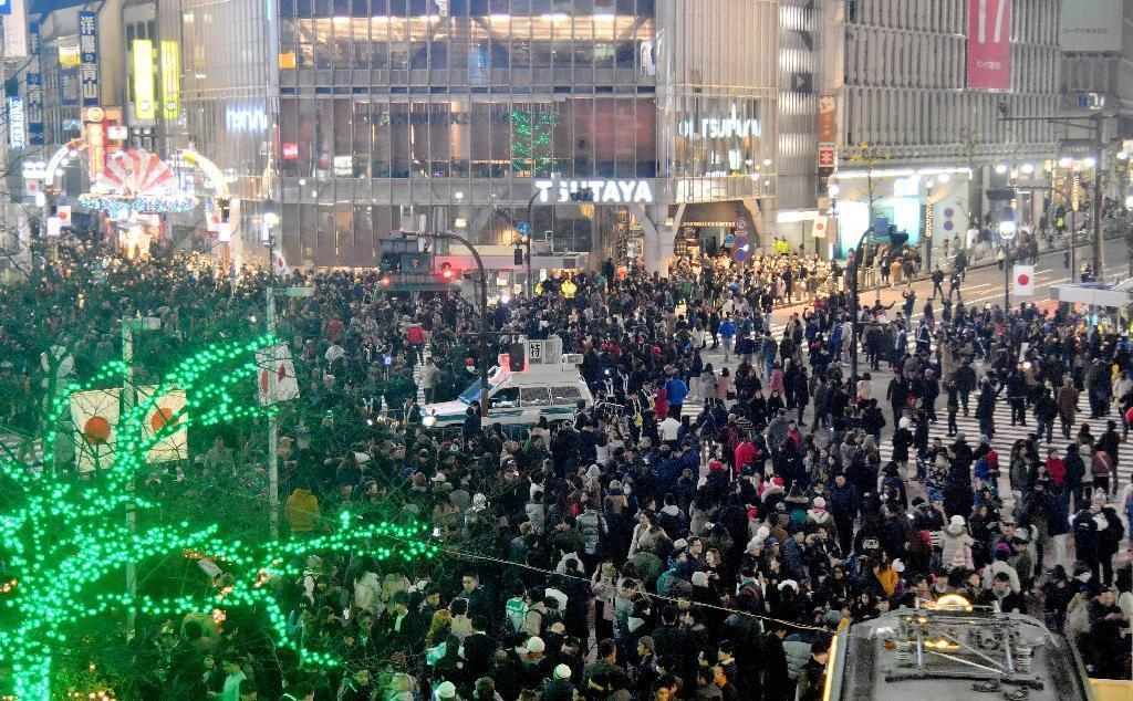New Year 2017 in Tokyo, Japan