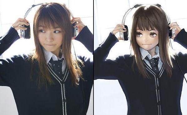 Anime vs Real: Girls